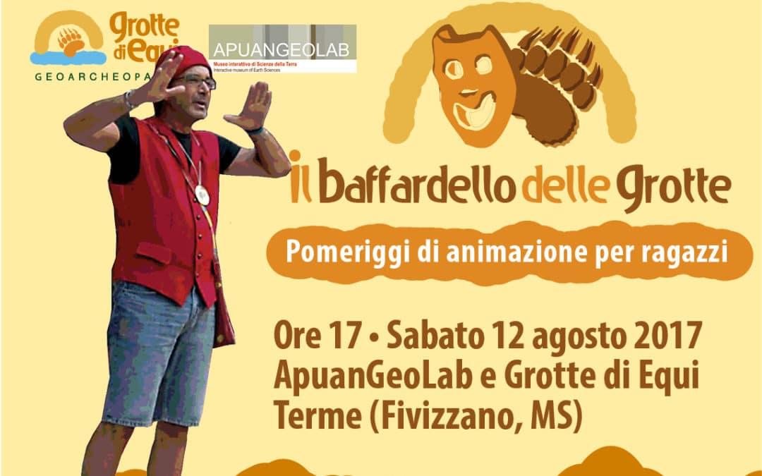Torna il Baffardello delle Grotte! Sabato 12 agosto 2017 Grotte di Equi Terme (Fivizzano)animazione e visite per bambini e ragazzi