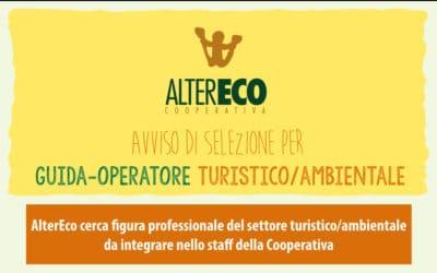 Cooperativa AlterEco cerca 1 guida-operatore turistico/ambientale – Avviso di selezione