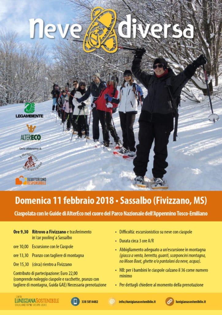 programma neve diversa lunigiana 11 febbraio 2018
