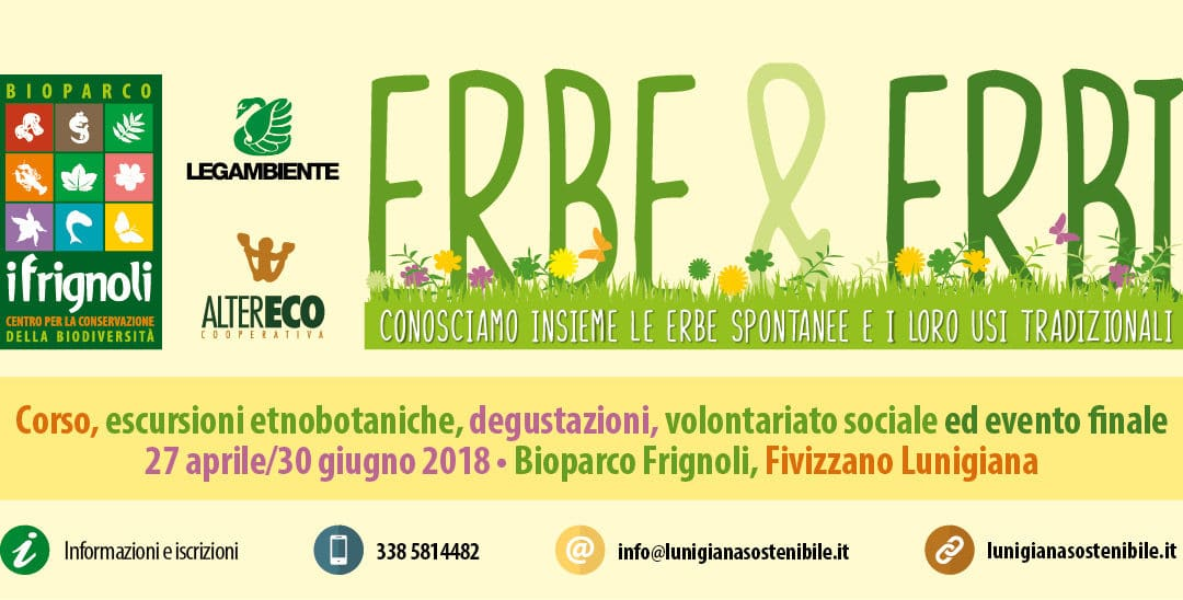 """Al via il 27 aprile """"Erbe & Erbi"""" •Corso sulle erbe spontanee alimentari in Lunigiana"""