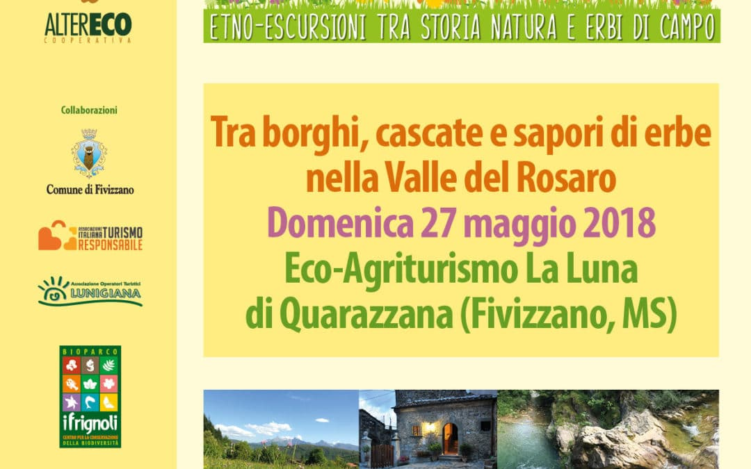 Escursione Erbe & Territorio nella Valle del Rosaro • 27 maggio 2018, Quarazzana (Fivizzano (MS)