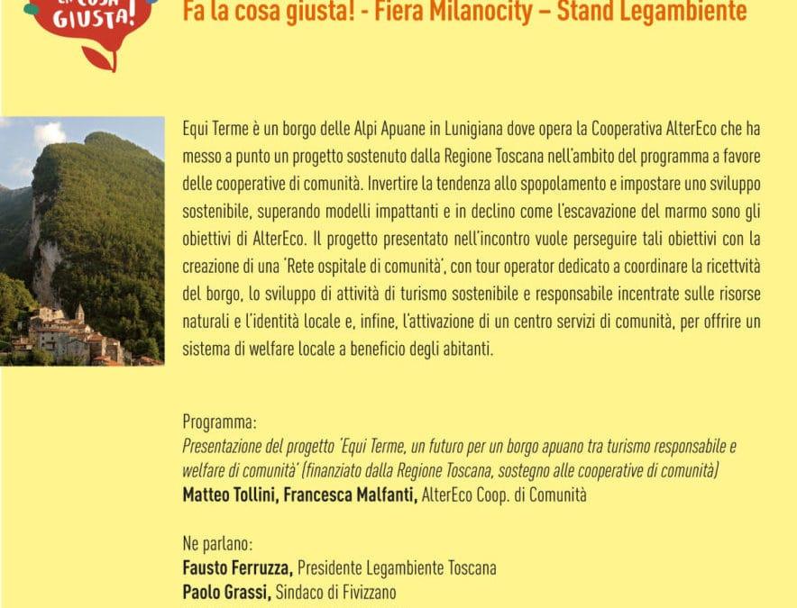 Il progetto 'Equi Terme Comunità ospitale' si presenta a Milano