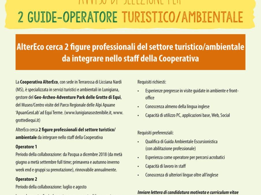 AlterEco seleziona 2 guide-operatore turistico/ambientale