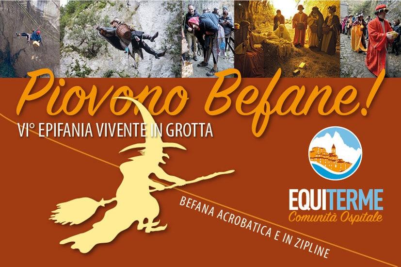 Piovono Befane! VI° Epifania vivente in grotta • 6.1.2020 Equi Terme (MS)